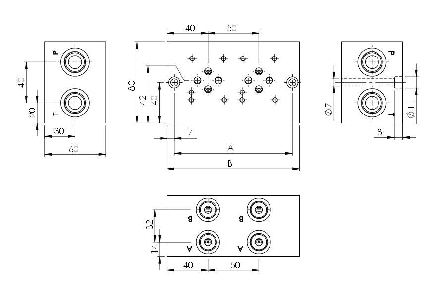 Anschlussplatten Hydraulik