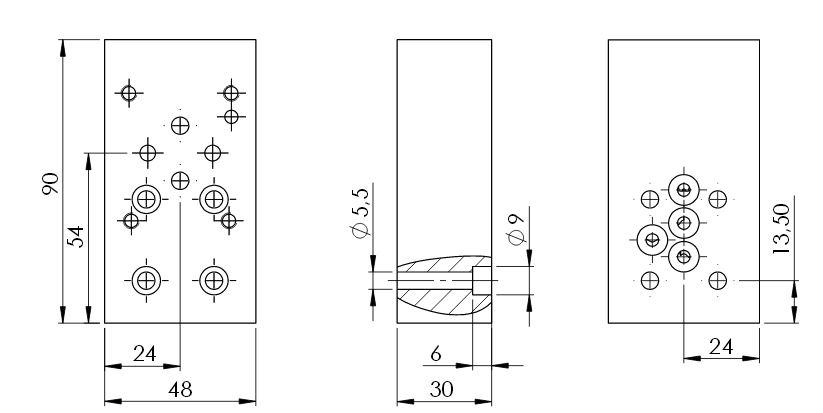 Hydraulik Adapterplatten NG6