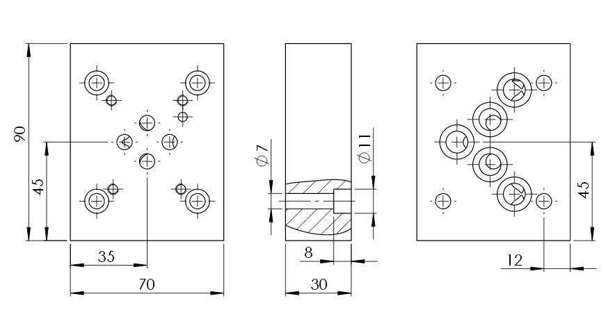 Adapterplatten Hydraulik