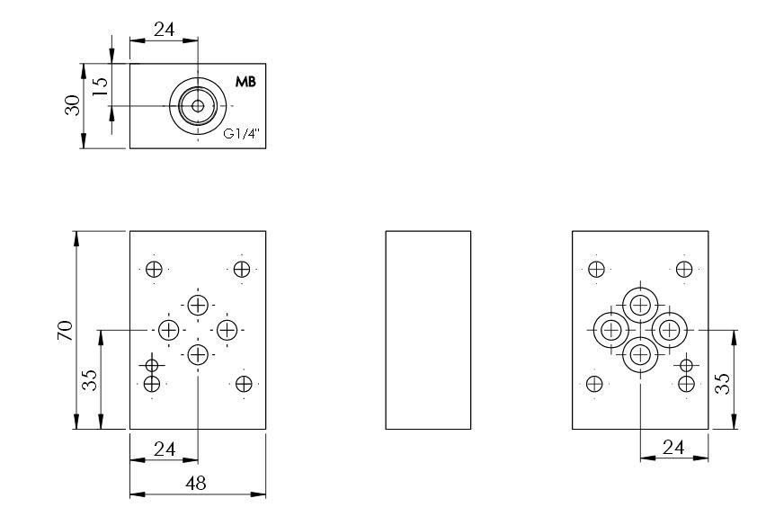 Hydraulik-Zwischenplatten