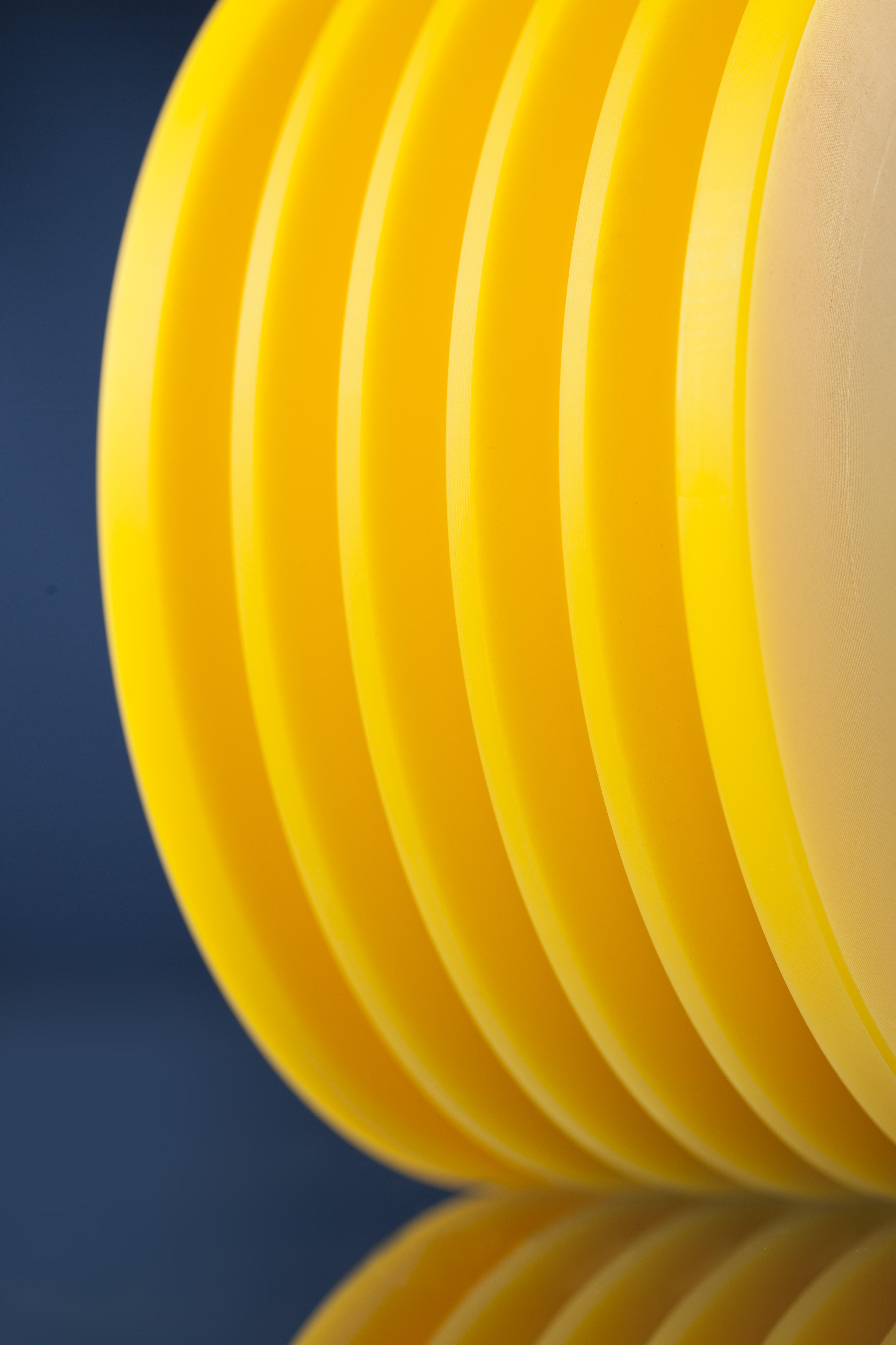 Drehteil aus PA 6 G + ÖL gelb
