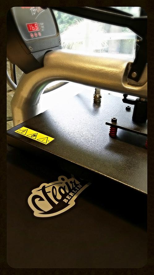 Textildruck Bügelpresse