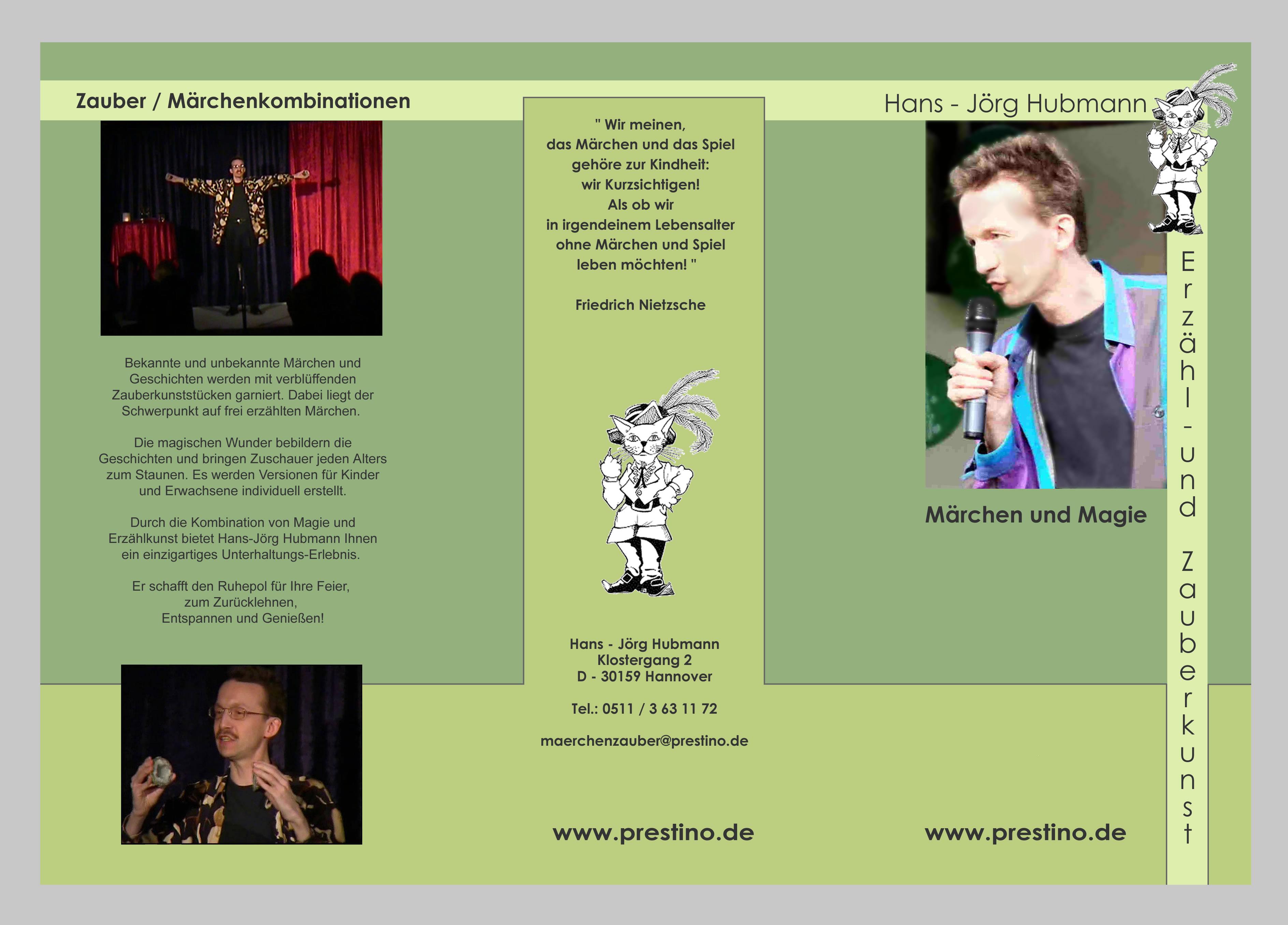 Flyer www.prestino.de