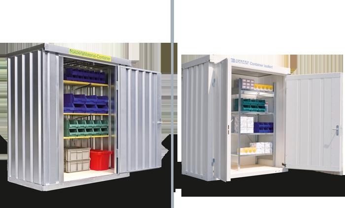 Lagercontainer, Materialcontainer, Materialcontainer isoliert