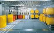 Lagercontainer für Gefahrstoff