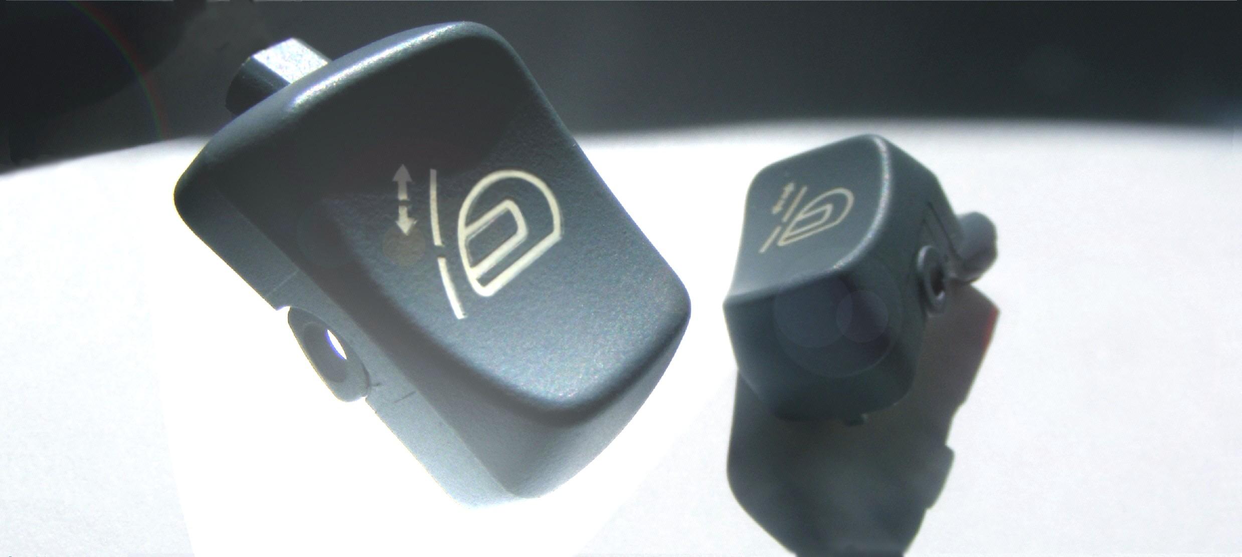 Lackierte Kunststoffteile laserbeschriftun