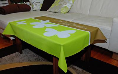bedruckte Motiv-Tischdecken fuer viele Gelegenheiten