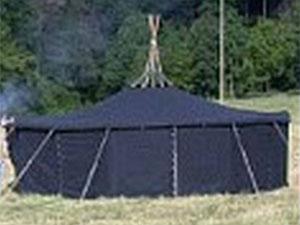 Jurten-Zelte 1/2-Dach ohne Fenster kaufen