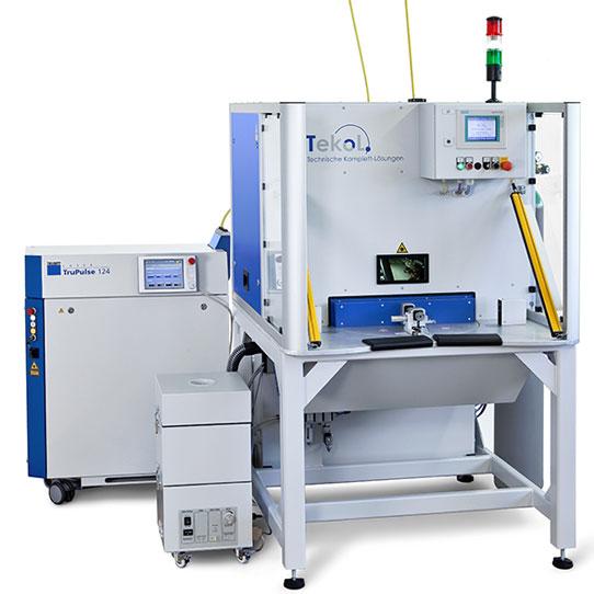 TeKoL Laser-Arbeitsplatz Modell LAP-4S mit SPS-Steuerung und Drehteller