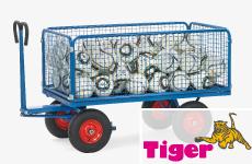 Handpritschenwagen mit Plattform, Bordwand aus wetterfestem Sperrholz oder Drahtgitterwand