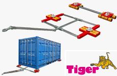 Container-Transportfahrwerke für den ISO-Container Transport