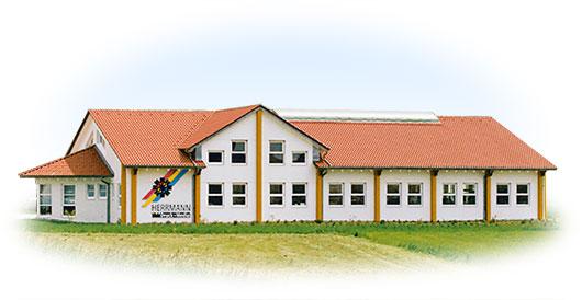 Firmengebäude vor dem Anbau