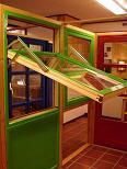 Schwingfenster, HG Schwingflügelfenster horizontal nach aussen öffnend