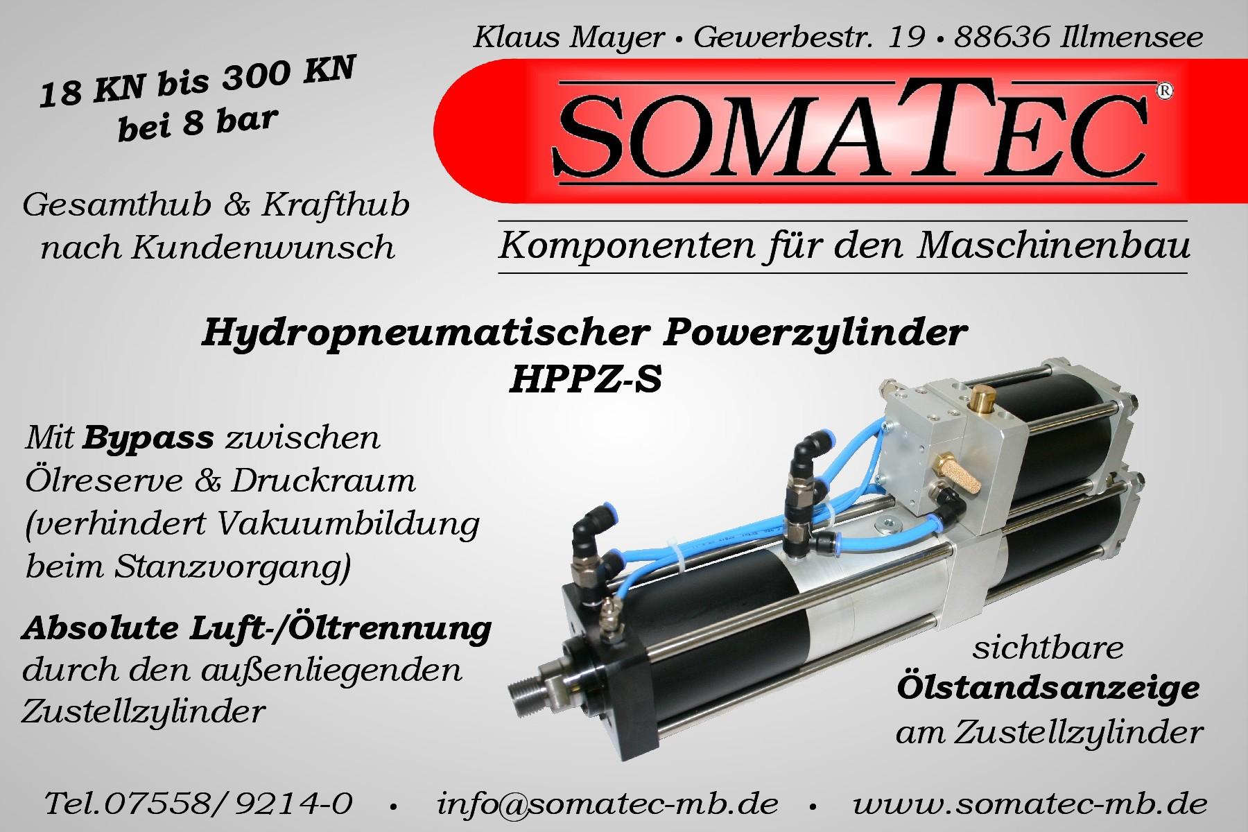 Hydropneumatischer Powerzylinder