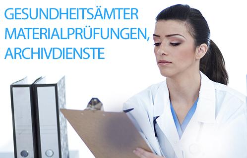 Entsorgung von Röntgenfilmen und Röntgenbilder aus dem medizinischen Bereich: Mikroverfilmungen, Materialprüfungen, Gesundheitsämter, Archivdienste.